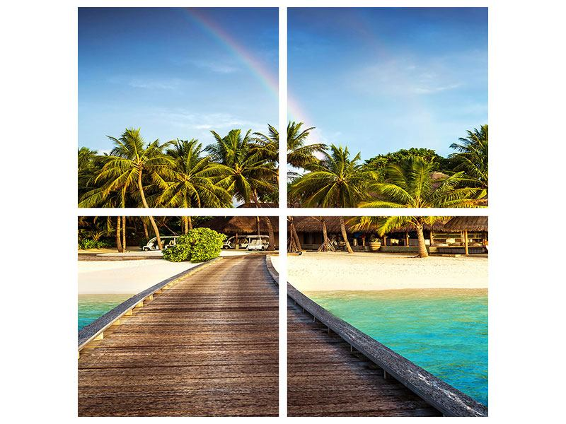Leinwandbild 4-teilig Inselparadies