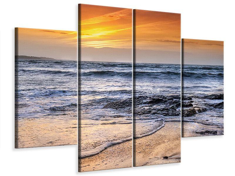 Leinwandbild 4-teilig Das Meer
