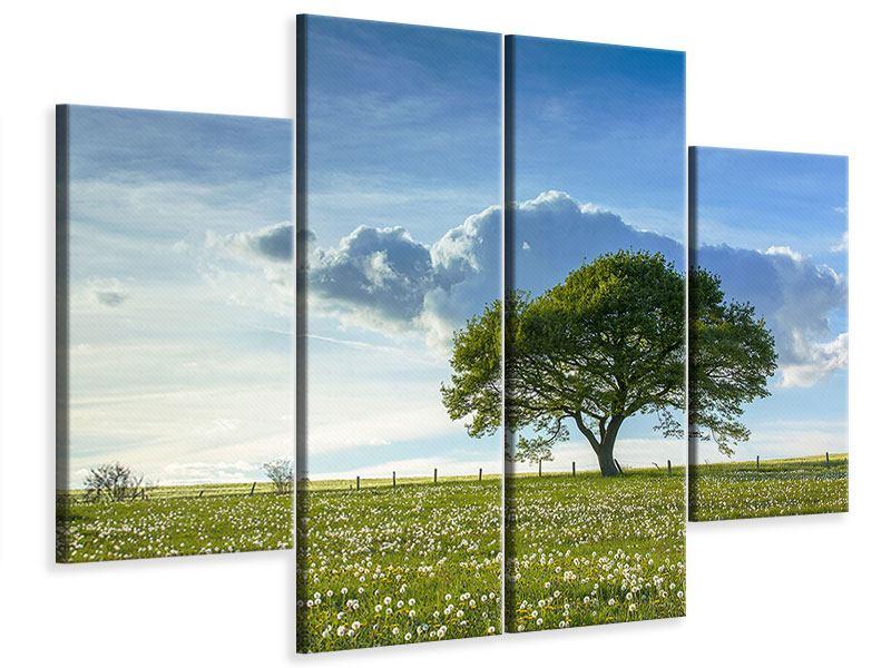 Leinwandbild 4-teilig Frühlingsbaum