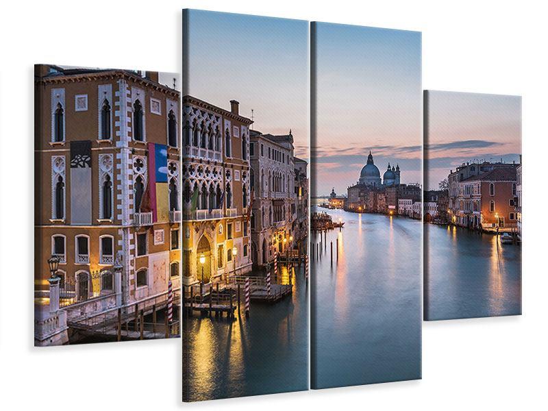 Leinwandbild 4-teilig Romantisches Venedig