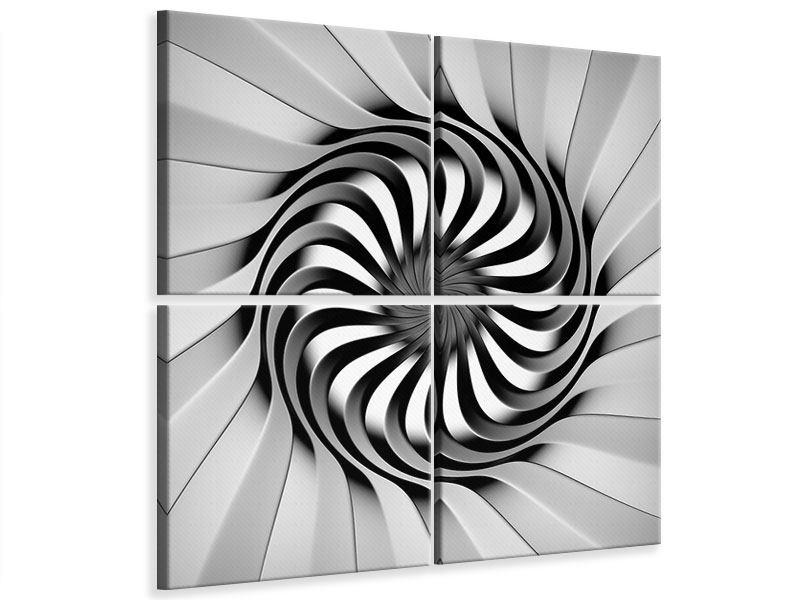 Leinwandbild 4-teilig Abstrakte Spirale