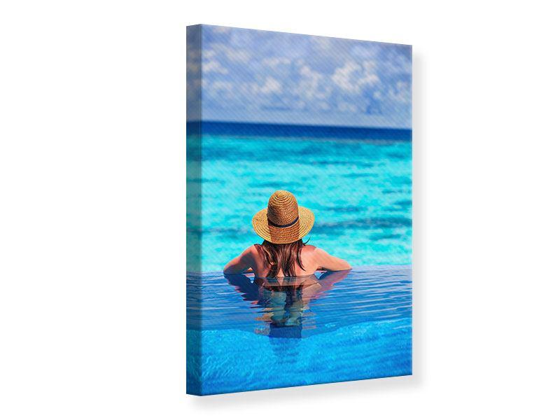 Leinwandbild Der Pool ins Meer