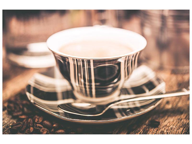 Leinwandbild Der Kaffee ist fertig