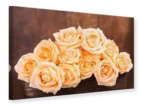 Leinwandbild Die Rosenzeit
