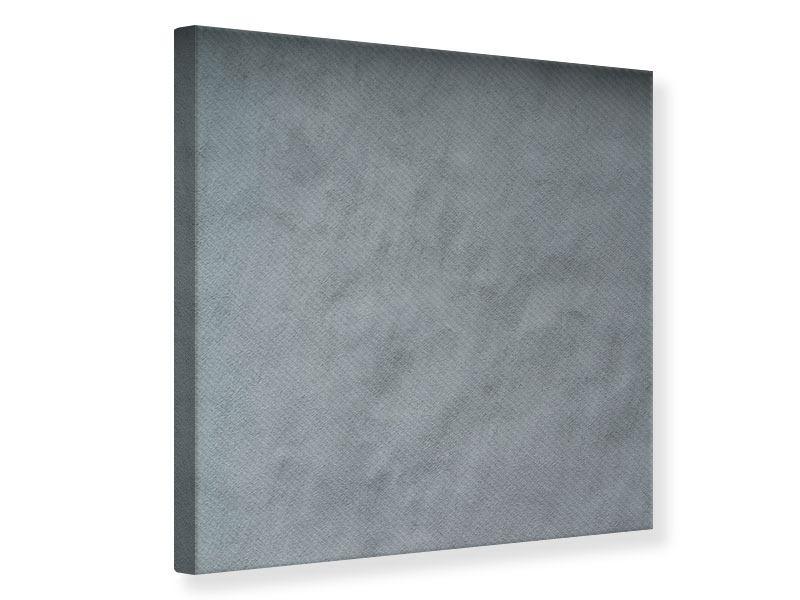 Leinwandbild Dunkelgraue Wand