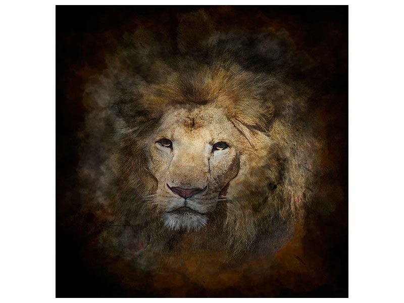 Leinwandbild Löwenportrait