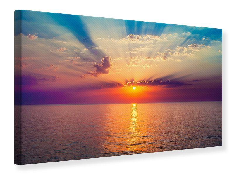 Leinwandbild Mystischer Sonnenaufgang