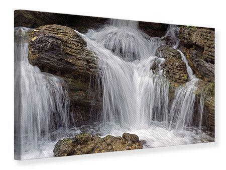 Leinwandbild Wasserfall XXL