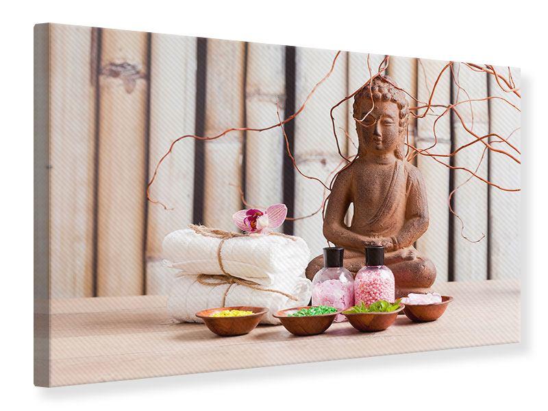 Leinwandbild Buddha + Wellness