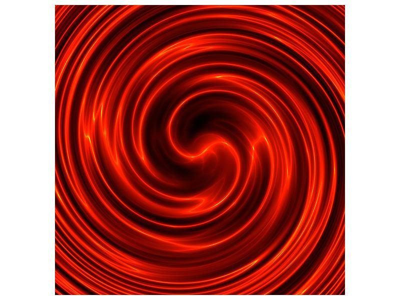 Leinwandbild Abstrakte Rote Wirbel
