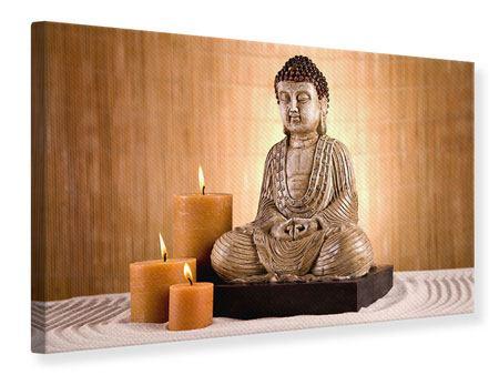 Leinwandbild Buddha in der Meditation