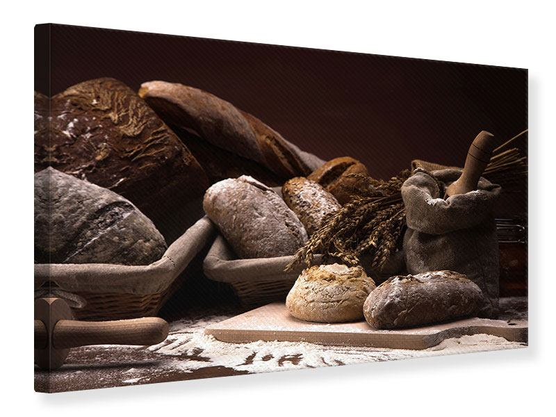 Leinwandbild Brotbäckerei