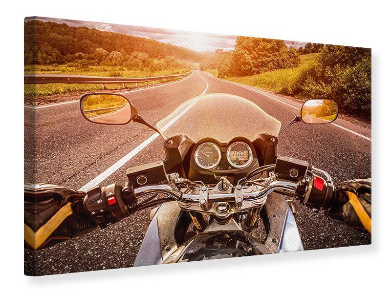 Leinwandbild Motorrad-Tour