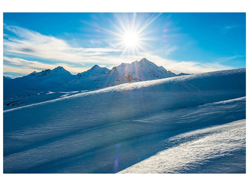 Leinwandbild Ein Wintermärchen in den Bergen
