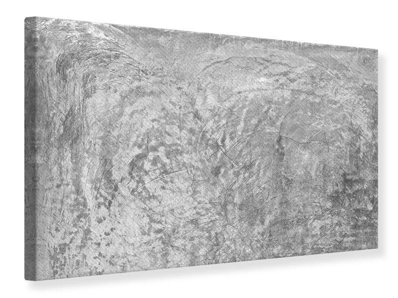 Leinwandbild Wischtechnik in Grau