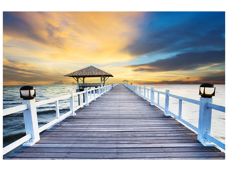 Leinwandbild Die Brücke ins Meer