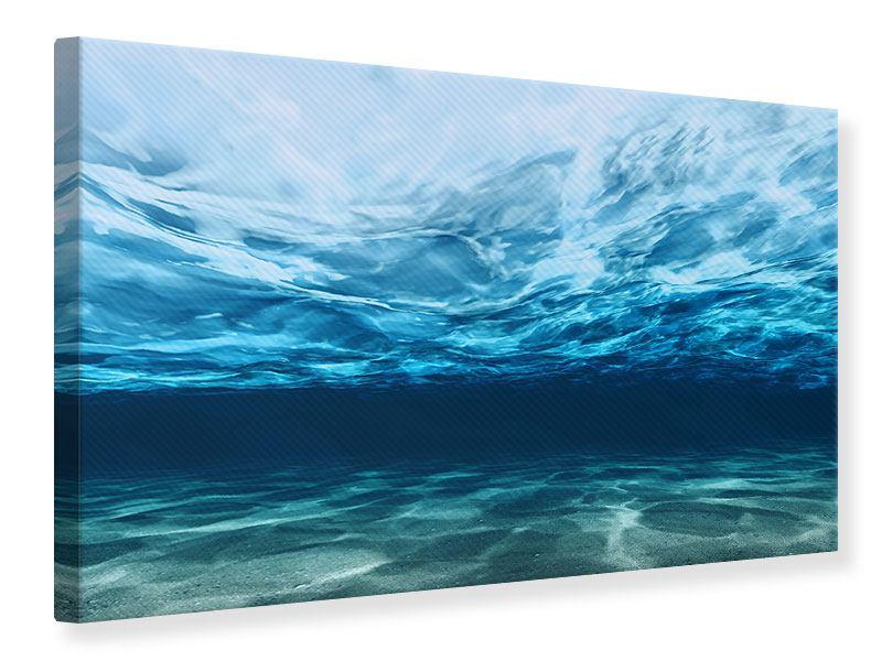 Leinwandbild Lichtspiegelungen unter Wasser