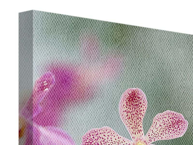 Leinwandbild Orchidee Pünktchen