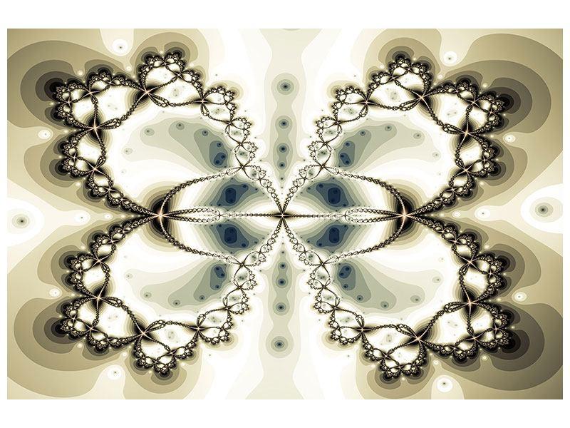Leinwandbild Abstrakter Schmetterling