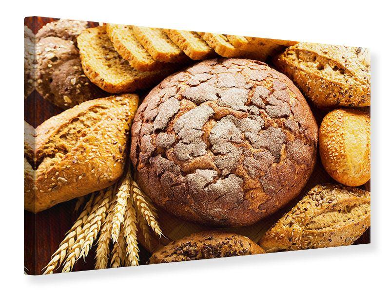 Leinwandbild Brotsortiment