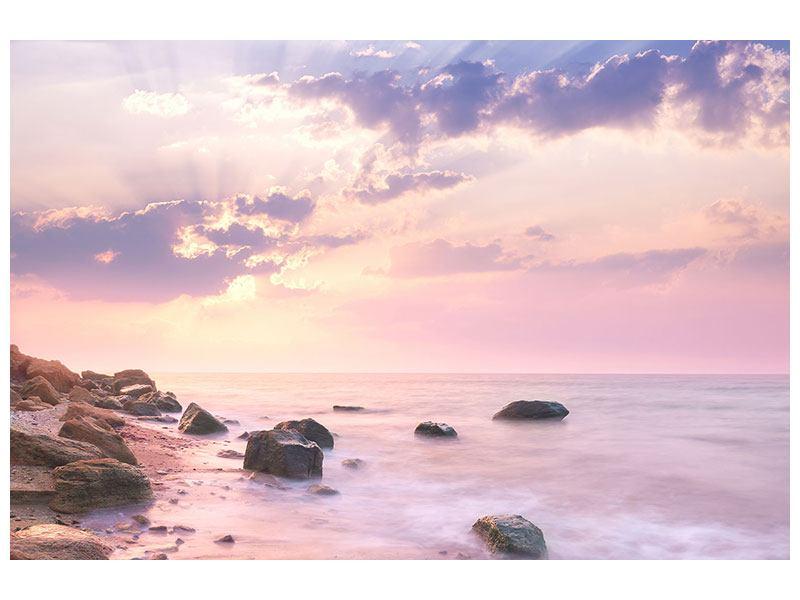 Leinwandbild Sonnenaufgang am Meer