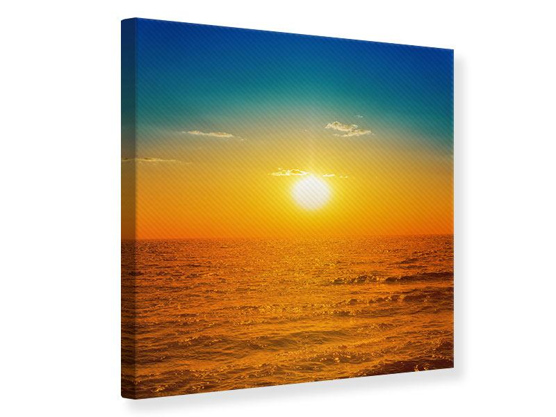 Leinwandbild Das Meer im Sonnenuntergang