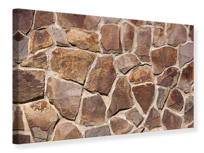 Leinwandbild Designmauer