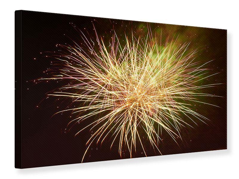 Leinwandbild Feuerwerk XXL