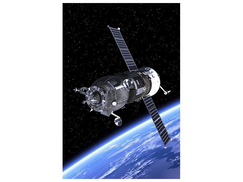 Leinwandbild Flug im Weltall