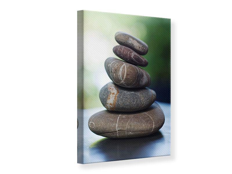 Leinwandbild Steinstapel