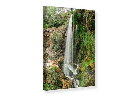 Leinwandbild Klarer Wasserfall