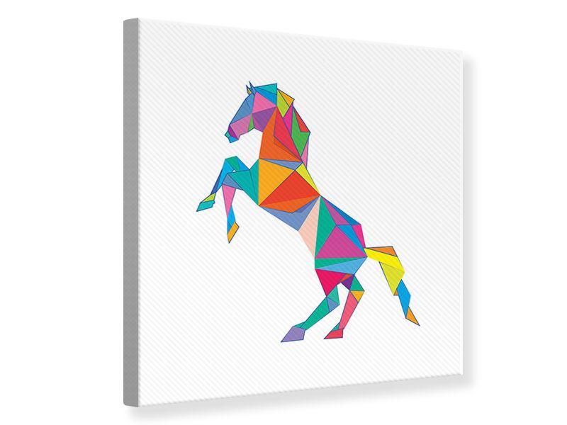 Leinwandbild Origami Pferd