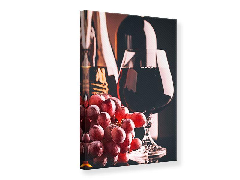 Leinwandbild Rotwein