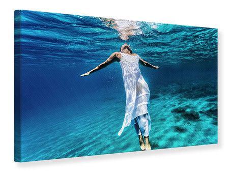 Leinwandbild Schönheit unter Wasser