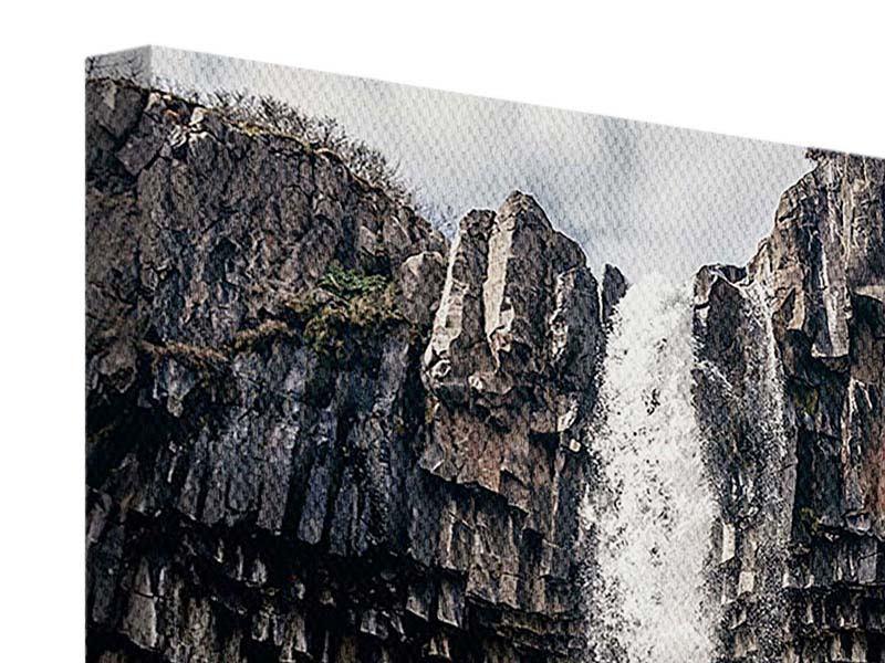 Leinwandbild Wasserfall Island