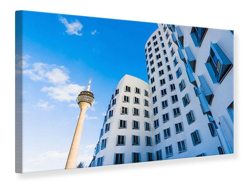 Leinwandbild Neuer Zollhof Düsseldorf