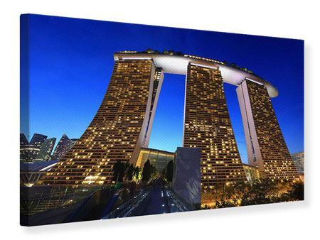 Leinwandbild Wolkenkratzer Singapur