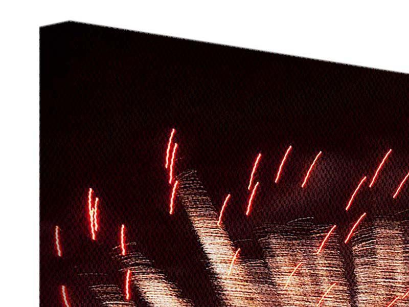 Leinwandbild Close Up Feuerwerk