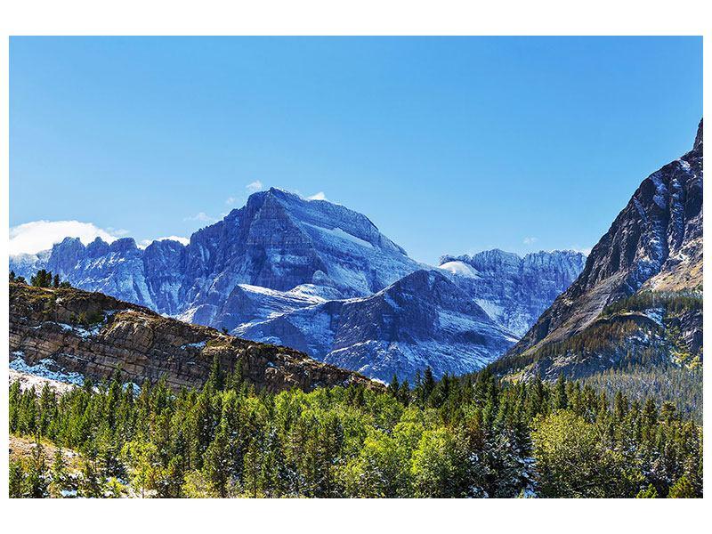 Leinwandbild Dem Gipfel entgegen