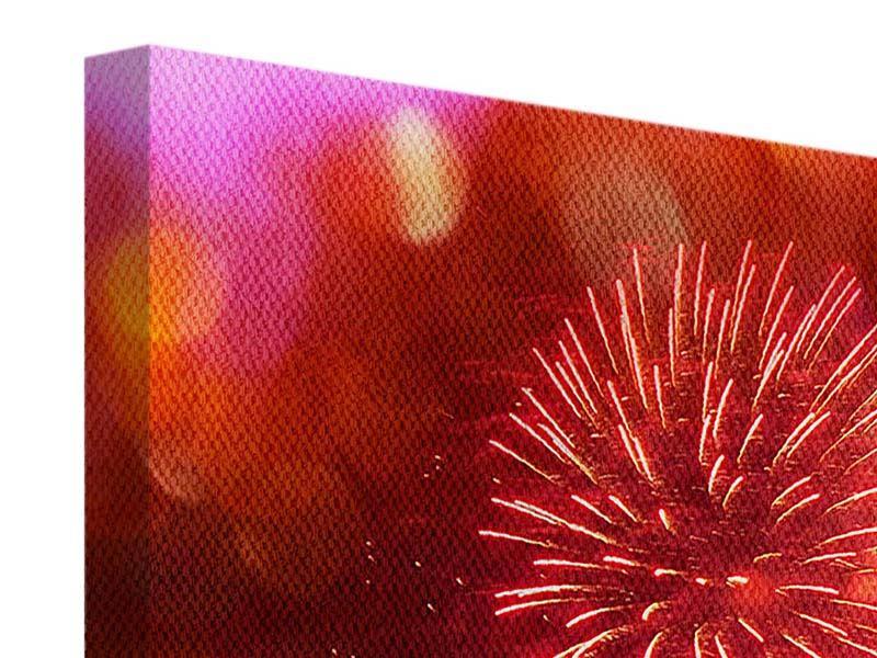 Leinwandbild Buntes Feuerwerk