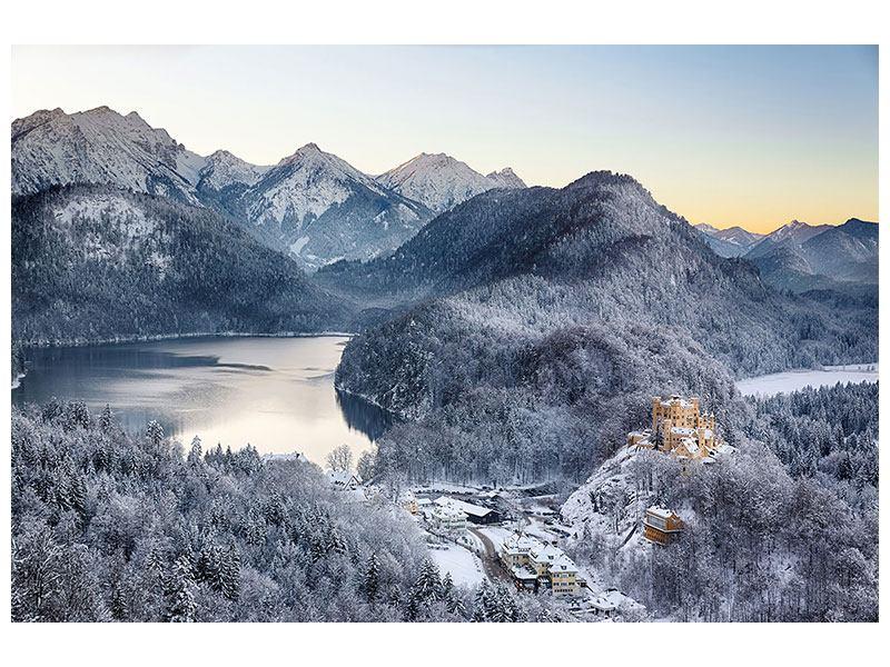 Leinwandbild Schloss Neuschwanstein im Ammergebierge