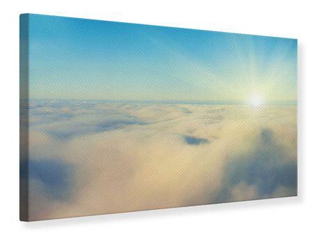 Leinwandbild Dämmerung über den Wolken