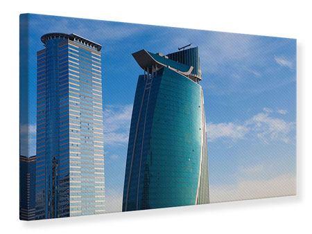 Leinwandbild Zwei Wolkenkratzer