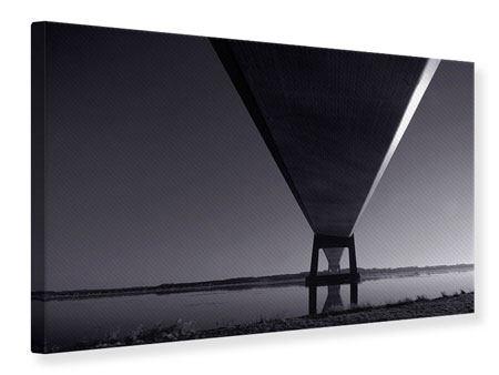 Leinwandbild Die Brücke über tiefes Wasser