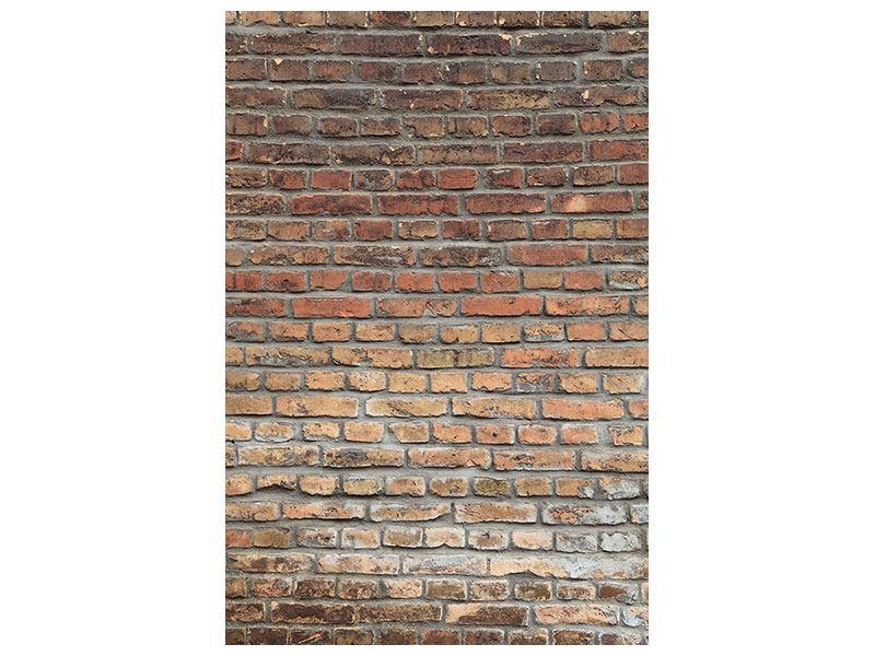 Leinwandbild Ziegelmauer