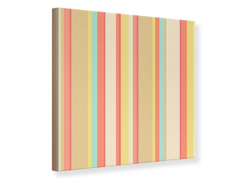 Leinwandbild Pastell Streifen
