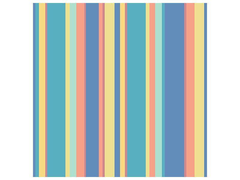 Leinwandbild Längstreifen in Pastell