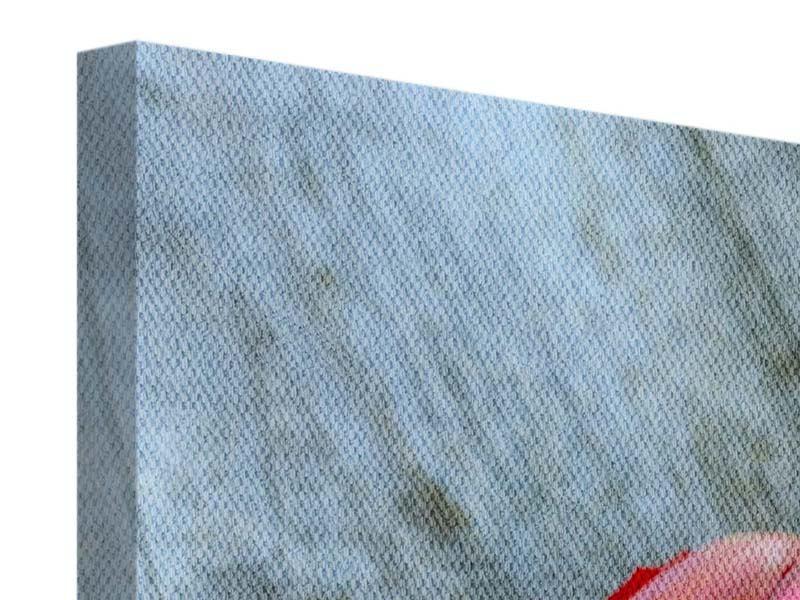 Leinwandbild Der rote Tulpenstrauss