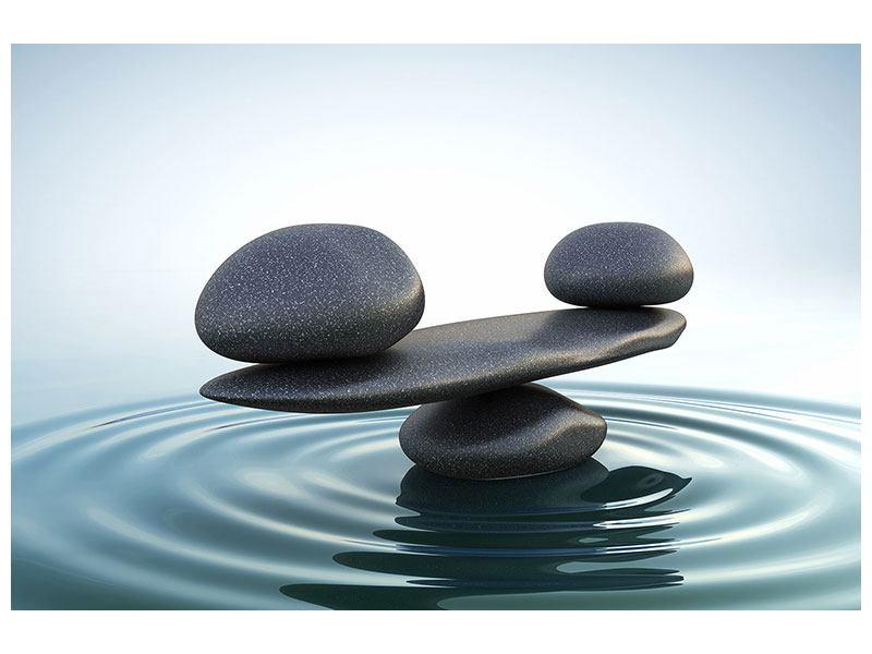 Leinwandbild Steinbalance