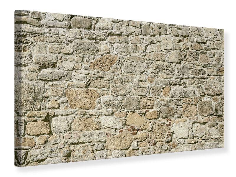 Leinwandbild Naturmauer